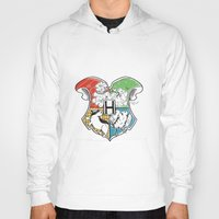 hogwarts Hoodies featuring Hogwarts Houses by Vagalumie
