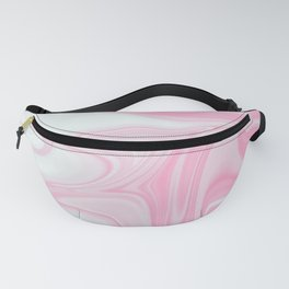 Pink & White Liquid Marble Fanny Pack
