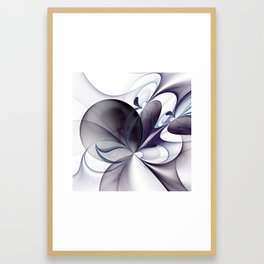 Easiness, Abstract Modern Fractal Art Framed Art Print