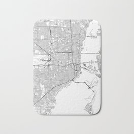 Miami White Map Bath Mat