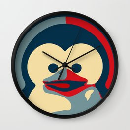 Linux tux penguin obama poster baby  Wall Clock