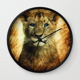 Blue eyed Lion Wall Clock