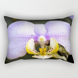 Macrophotography: Pink Orchid Rectangular Pillow