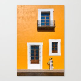 Finding Gold On The Streets of Puebla Mexico Canvas Print