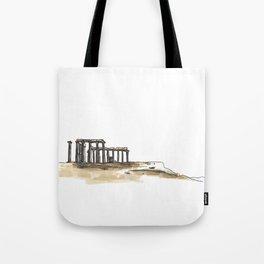 Greek Temple Ruins Tote Bag
