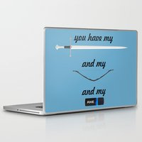 lord of the rings Laptop & iPad Skins featuring You Have - Lord of The Rings by Cristiano Ávila Salomão