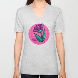 Flower - Laura Wayne Design Unisex V-Neck