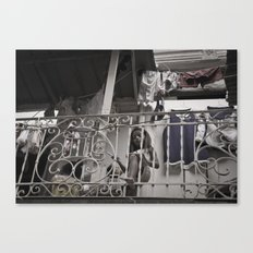 Girls playing in the balcony - Panamá  Canvas Print