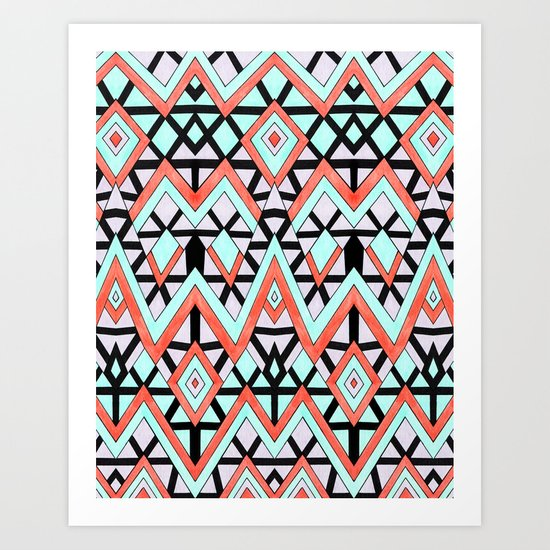 Geometric Mountains Art Print