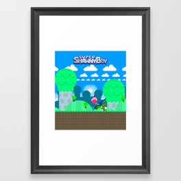 Shawn and his friends Framed Art Print