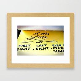 IT WAS LOVE Framed Art Print