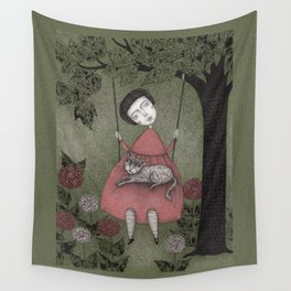 Grandmother's Swing Wall Tapestry