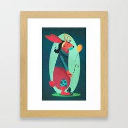 Birthday Bunny Framed Art Print
