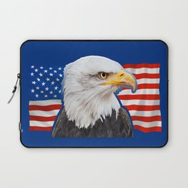 Patriotic Eagle 4th of July American Flag Laptop Sleeve