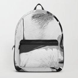 labrador retriever dog winking vector art black white Backpack