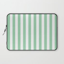 Mint Green Small Even Stripes Laptop Sleeve