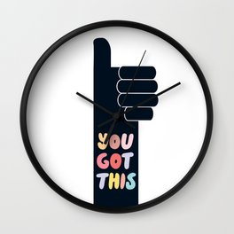 You Got This Thumbs Up Wall Clock