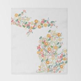 Beauty in Michigan (white) Throw Blanket