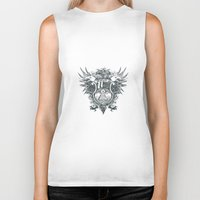 new order Biker Tanks featuring New World Order by Tshirt-Factory