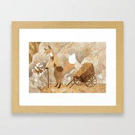 Walk with Granddad Framed Art Print