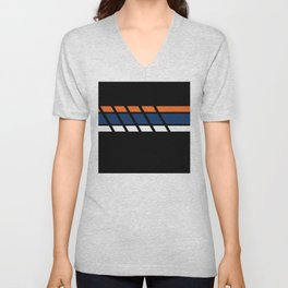 Team Colors...blue,orange Unisex V-Neck