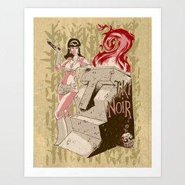 Tiki Noir Art Print