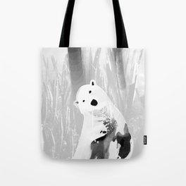 Unique Black and White Polar Bear Design Tote Bag