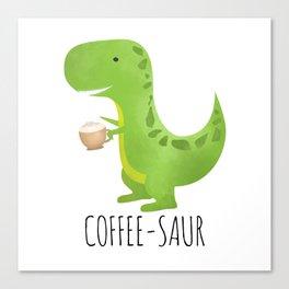 Coffee-saur Canvas Print