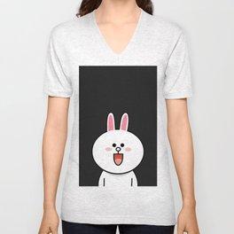 LINE Cony Rabbit Bunny Unisex V-Neck