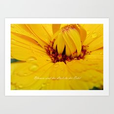 Flowers are the smiles of the earth Art Print