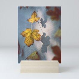 Fall Sunlight & Leaves Shadows Mini Art Print