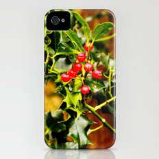 Winter Holly iPhone (4, 4s) Slim Case