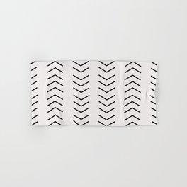 mudcloth pattern white black arrows Hand & Bath Towel