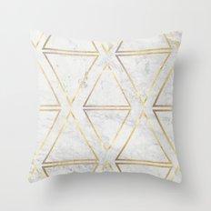 gOld rhombus Throw Pillow