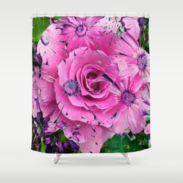 504 - Abstract Flower Design Shower Curtain