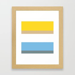 Colours of Homer Framed Art Print
