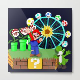DJ Mario at EDC Metal Print