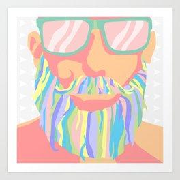 Magic Beard Art Print
