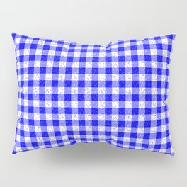 Gingham Blue and White Pattern Pillow Sham