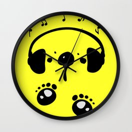 Panda bear love music Wall Clock