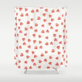 Sparkly hearts Shower Curtain