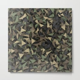 Triangle camouflage Metal Print
