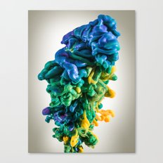 Creative Techno Heart Canvas Print