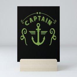 Beautiful sailing anchor captain sail Mini Art Print