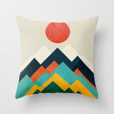 The hills are alive Throw Pillow