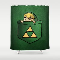 the legend of zelda Shower Curtains featuring THE LEGEND OF ZELDA  by BeautyArtGalery