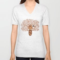 Kokeshi Tree of life Unisex V-Neck