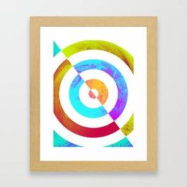 Colours Fading Framed Art Print
