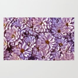 Abstract flowers Rug