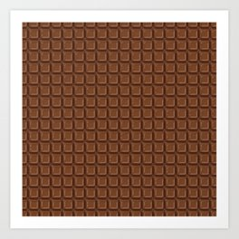 Just chocolate / 3D render of dark chocolate Art Print